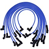 New Racing 9mm BLUE Spark Plug Wire Set Ignition...