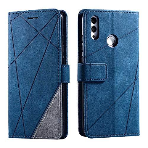 Cover per Huawei P Smart 2019 / Huawei Honor 10 Lite, SONWO Flip Caso in PU Pelle Case Cover Portafoglio Custodia per Huawei P Smart 2019 / Huawei Honor 10 Lite, [Kickstand] [Slot per Schede], Blu