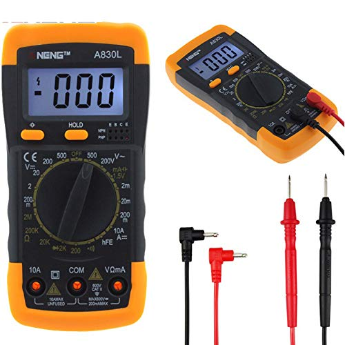 For Sale! A830L Digital Multimeter DC AC Ammeter Voltmeter Tester Meter LCD Electric Handheld Digita...