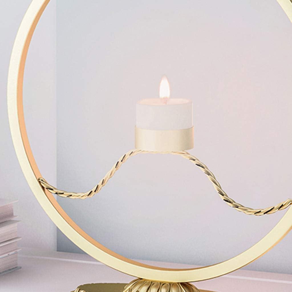 Cheap LINNSZ Washington Mall Metal Candle Holder Geometric Candlestick Iron Rack Round