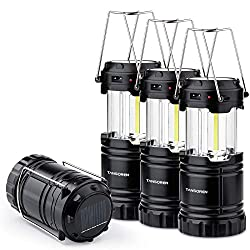 professional Solar Cell 4 Pack USB 3 AA Battery Brightest COB LED Camp Light with Magnetic Base,…