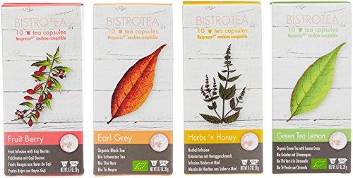 Bistrotea Tee-Kapseln - Sortiment mit 4 Sorten - NespressoMaschinen kompatibel, 80 g