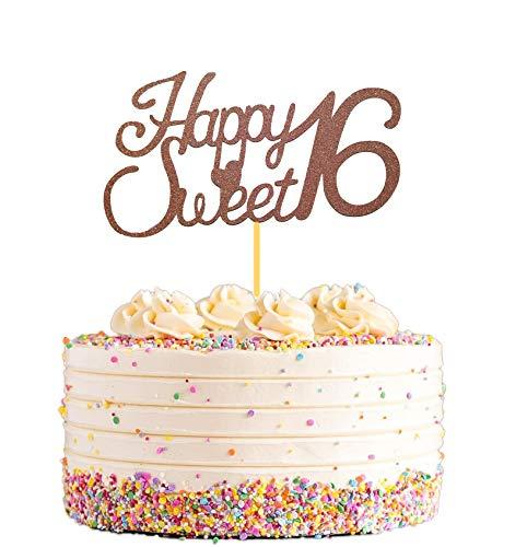 Happy Sweet 16th Birthday Cake Topper