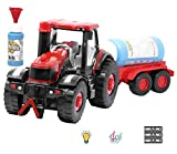Zest 4 Toyz Happy Farmer Bubble Blowing Cement Mixer Machine with Bubble Solution -Automatic Bubble Blower for Kids-More Than 500 Bubbles per Minute-Fun and Convenient -Assorted Color