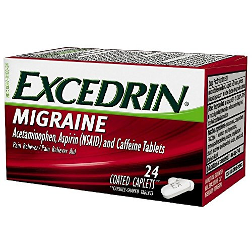 Excedrin Migraine Pain Reliever Caplets 24 ea (Pack of 2)