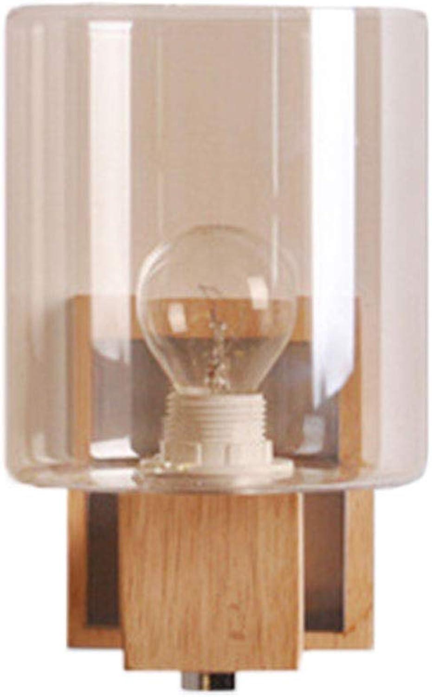 CAVEMAN Wandleuchten Innen Modern, Moderne Einfache Kreative Massivholz Geometrische Zylindrische Schlafzimmer Nacht Schlafzimmer Flur Studie Dekoration Beleuchtung, E14