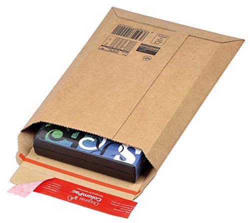 ColomPac CP010.02 Versandtasche aus Wellpappe mit Selbstklebeverschluss und Aufreissfaden, braun