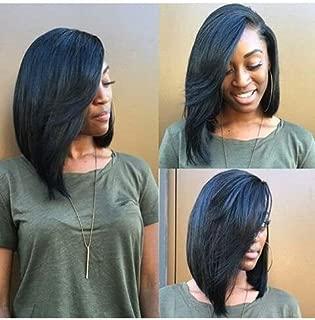 Brazilian Straight Hair 3 Bundle Deal 10inch 100% Human Hair Bundles Brazilian Virgin Hair Weft Bob hair Bundles 300g Natural Black