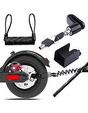 Remschijfslot, elektrische step, veiligheidsvergrendeling, diefstalbeveiliging, staaldraadslot, voor motorfiets, fiets en scooter