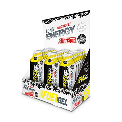 Nutrisport - Fuel Gel, Palatinose, Electrolitos, Aporta Energía, Sabor Cítricos, Caja de 24 Geles, 24 x 30 gr