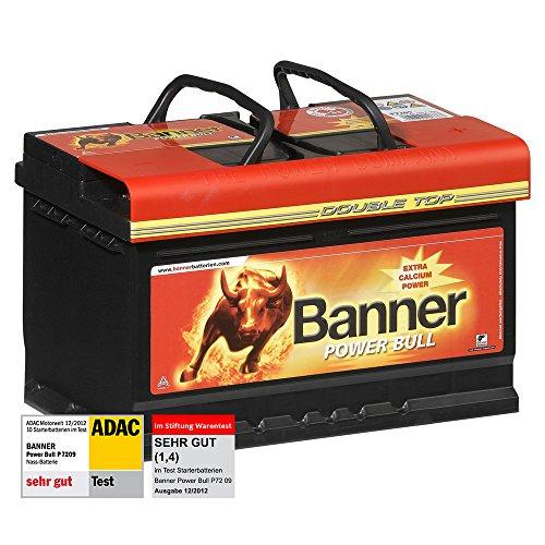 Banner Power Bull Autobatterie 12V 72Ah 660A P7209 Test ADAC + Stiftung Warentest SEHR GUT