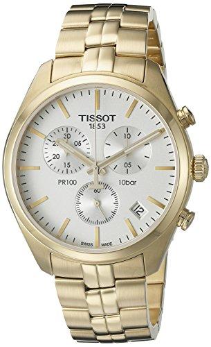 Tissot Herren-Armbanduhr T1014173303100, Analoganzeige, Quarz, goldfarben