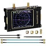 AllAboutFun Analizador de red de 3,2 pulgadas Nano VNA V2 3G, analizador de antena Nano VNA V2 50 kHz ~ 3 GHz de onda corta HF-VHF UHF filtro de medición duplexor de 1950 mAh batería incorporada