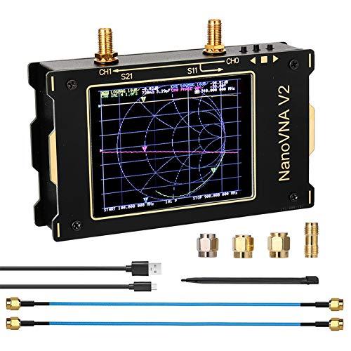 AllAboutFun Analizador de red de 3,2 pulgadas Nano VNA V2 3G, analizador...