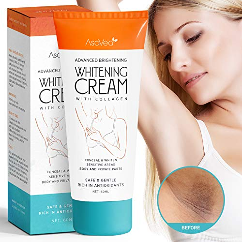 AsaVea Whitening Cream Natural Underarm Lightening Brightening Cream, Armpit Lighting & Bikini...