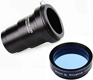 1.25Inch Moon Filter and 2X Barlow Lens for Telescope Eyepieces