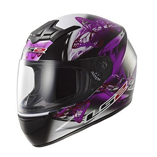 LS2 - Casco Moto, Nero/Viola, XXS