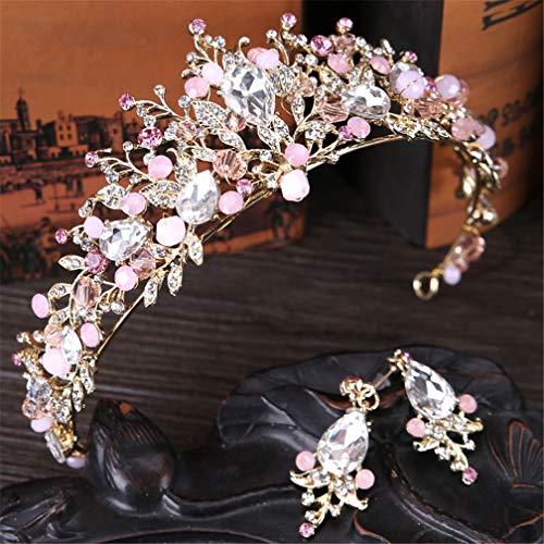 DSGYZQ Bridal Wedding Flower Crown Crown Tocado Crown Crown Diadema Accesorios para el Cabello para Las Mujeres Cumpleaños Crown Joyería,1