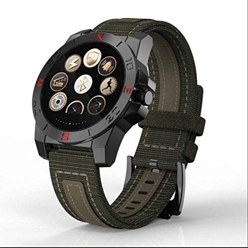 Herookman Outdoor Fitness Sportuhr Pulsuhren Smart Uhr Schrittzähler mit Kompass Thermometer Barometer Smartwatch Fitness Tracker Sesshafte Erinnerung für Android & IOS