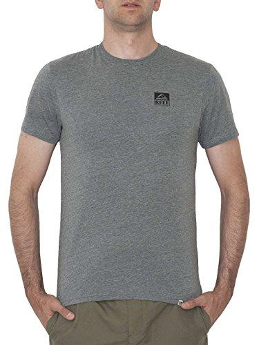 Reef Logo tee Camisa, Gris (Heather/Grey HGR), X-Small para Hombre