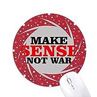 愛と平和な世界を作るセンスは戦争ではなく 円形滑りゴムの赤のホイールパッド
