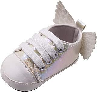Baby Girls Boys Sneakers Footwear Prewalker Angel Wings Crib Shoe Toddler Moccasins