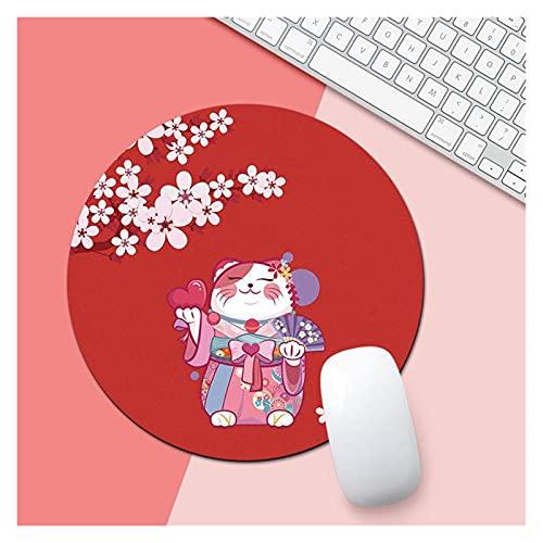 JSJJAYU Alfombra de Escritorio Kawaii Celestial Celestial Mouse Pad Suave Mat para el Juego Computer Cap Desk Mat Pads After PC Impermeable (Color : K)