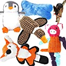 Jalousie 5 Pack Value Bundle Dog Toys Assortment Dog Plush Toys Dog Squeaky Toys Assortment Puppy Pet Mutt Dog Toy Dog Squeak Toy for Medium Large Dogs
