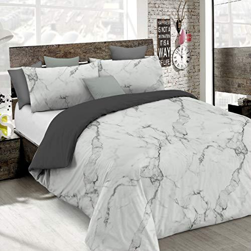 Italian Bed Linen Fashion Copripiumino, Marble, 1 Piazza e Mezza