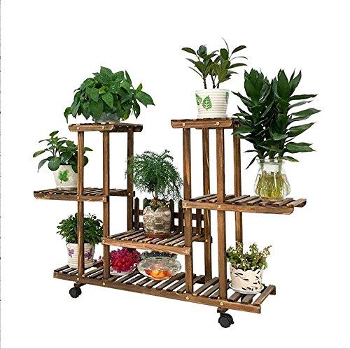 Support en bois moderne simple de support de fleur/support multifonctionnel mobile d'usine