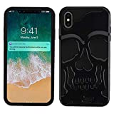 Protective Skull iPhone Xs Max case Compatible with iPhone Xs Max Case Cover Skull Design (Black)