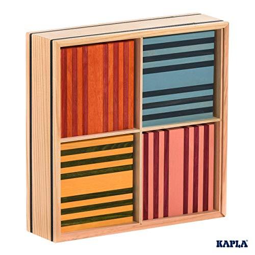 KAPLA OCTOCOLOR, 100 Holzplättchen, 8 verschiedene Farben