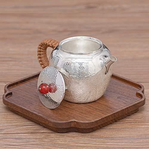 YYFUS Silver pot brilliant face magnificence shoulder small teapot Kung Fu tea set single dwelling tea separation tea maker