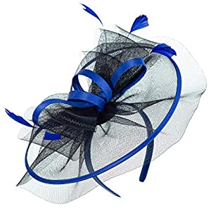 Myjoyday Fascinators for Women Derby Headband Wedding Tea Party Hats Hair Clip for Girls
