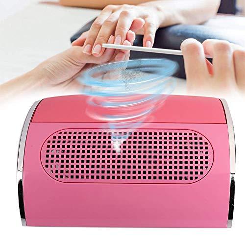 Aspirador de uñas, colector de polvo de uñas rosa, máquina de manicura profesional de salón, aspirador de uñas 40W, colector de polvo de uñas de 3 ventiladores(EU)