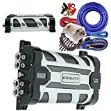 Gravity GR-50PX Car Audio Mobile Battery Stiffening Portable Power 50.0 Farad Capacitor and Completed 5000 Watts Amplifier Installation Wiring kit 0 Gauge BGC0XLB