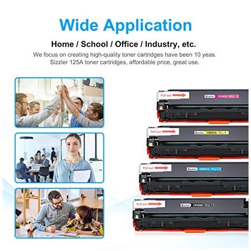 Sizzler Compatible HP 125A Cartucho de tóner CB540A CB541A CB542A CB543A para HP Color LaserJet CM1312 CM1312 mfp… 6