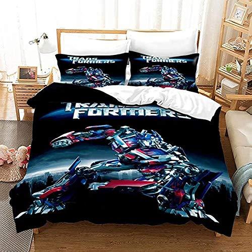 HUA JIE Bedruckte Bettwäsche Tröster Bettbezug Supstar Tr-An-Sfor-M-Kinder-Bettbezug-Sets Für Kinder Bettbezug-Set Für Jungen Bu-Mble-Be-E De-C-Epti-C-Ons Op-Ti-M-Us