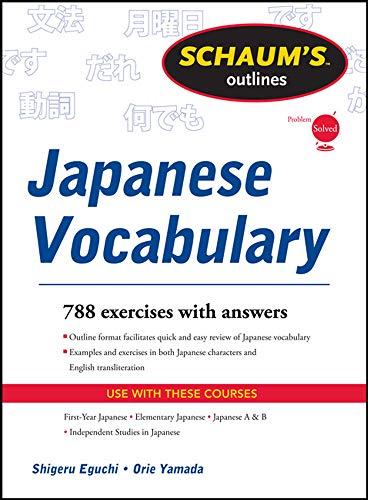 Schaum's Outline of Japanese Vocabulary (Schaum's Outline Series)