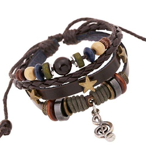 Sunnywill Mehrschichtige Hand Wind Perlen gewebt Armband Vintage Bohemia für Mädchen Frauen Damen (Y)
