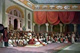 "Sir Charles Concluding A Treaty In Durbar with the Peshwa of the Maratha Empire 1790 Vintage Painting by Thomas Daniell"" Malet, of the East India Company The painting was commissioned by Malet to commemorate his role in the treaty and the ultimate de..."