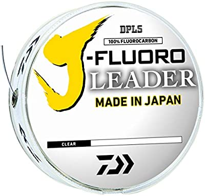 Daiwa J-Fluoro Fluorocarbon Leader - 50 Pound - 50 Yards, Clear