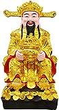 Feng Shui Gift God Of Fortune CAI Shen Statue Artículos de decoración de escritorio para el hogar Feng Shui Atrae riqueza y buena suerte Decoración Feng Shui Gift Gift de año nuevo chino 1222 (Size: