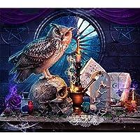 大人のためのジグソーパズル500ピースフクロウとキャンドルパズル大人のための大きなパズルゲームアートワーク10代の家庭で遊ぶ娯楽おもちゃ家の装飾-23x15インチ(52 x 38cm)
