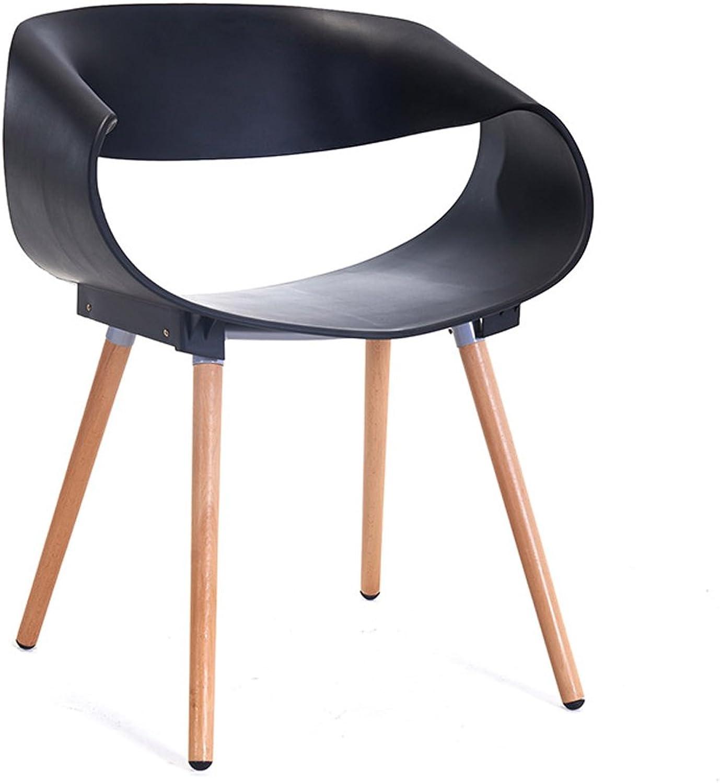 LRW Modern Minimalist Chairs, Fashionable Plastic Backrest Armchairs, Dining Chairs