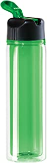 Oggi 8055.11Tritan 16-Ounce Double Walled Sport Bottle with Flip Up Spout, Green Inner