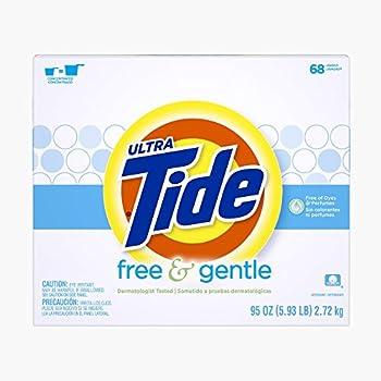 Tide Free & Gentle HE Turbo Powder Laundry Detergent 68 Loads 95 Oz