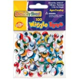 Creativity Street Wiggle Eyes Assorted Sizes, Painted, 100-Piece (344607)