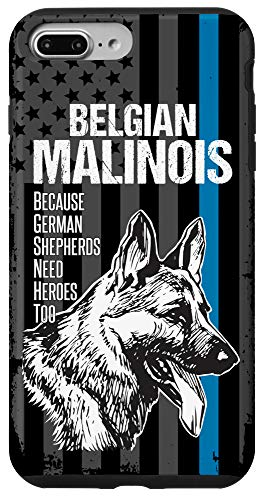 iPhone 7 Plus/8 Plus Malinois Police Dog Funny K9 Thin Blue Line Gift Phone Case