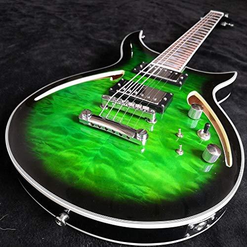 MLKJSYBA Guitarra Guitarra Eléctrica De Jazz Y Guitarra Hueca De Acero Acústico...